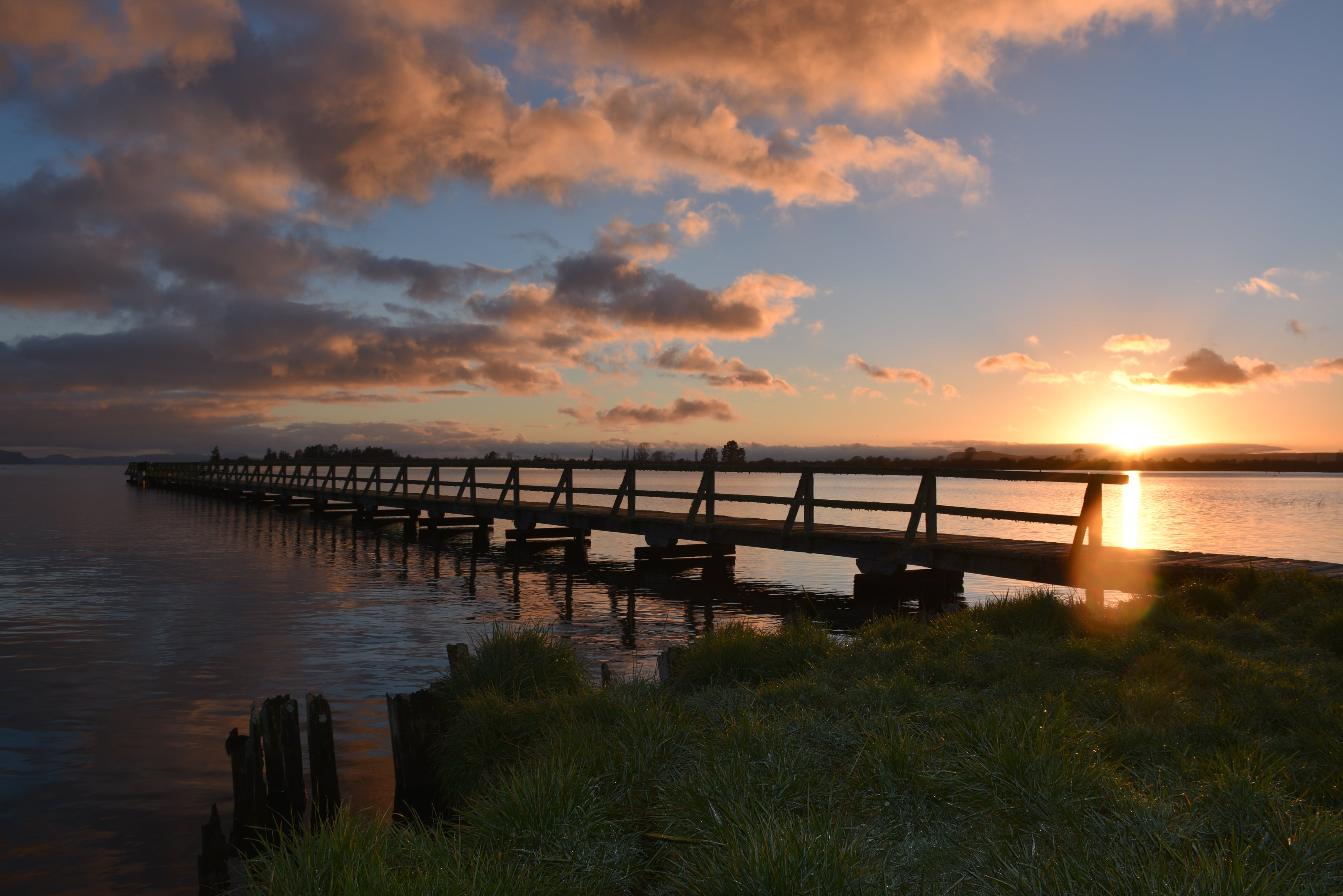 Sunrise at Tokaanu Wharf