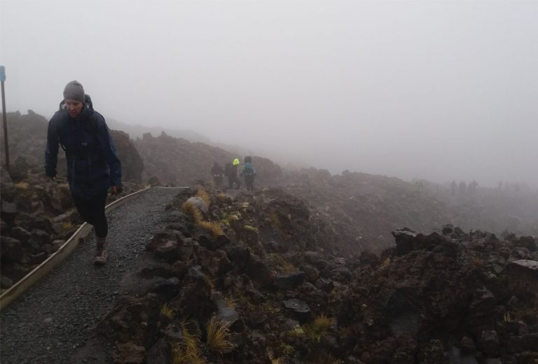 Devils Staircase on a rainy day